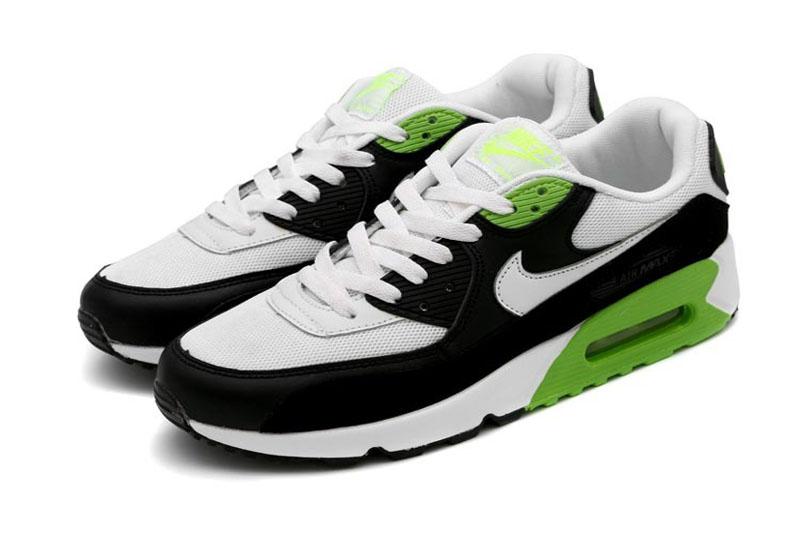 air max 90 femme blanche et noir et verte,Nike Air Max 90 ...