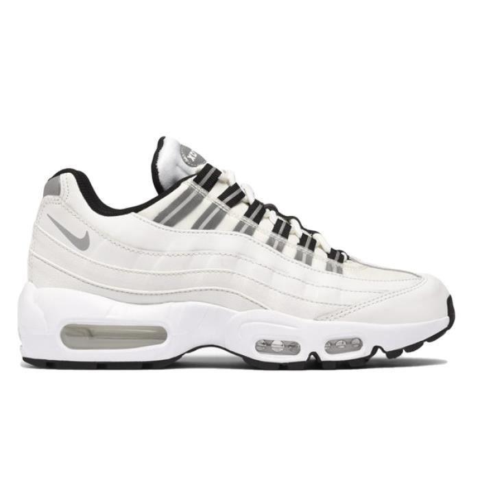 air max 95 femme blanche et noir et verte,Nike Air Max 95 blanche ...