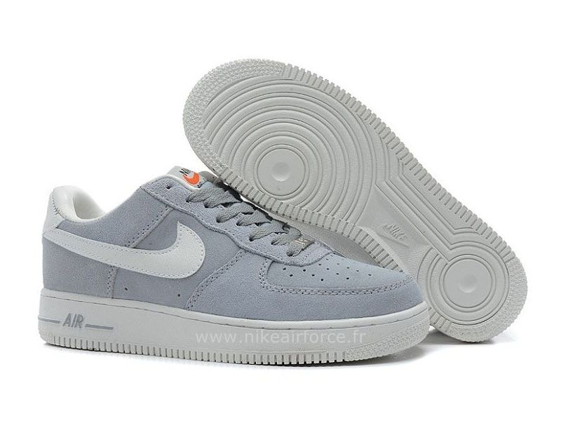 nike force 1 basse gris femme,Nike Air Force 1 Basse Suede Loup ...