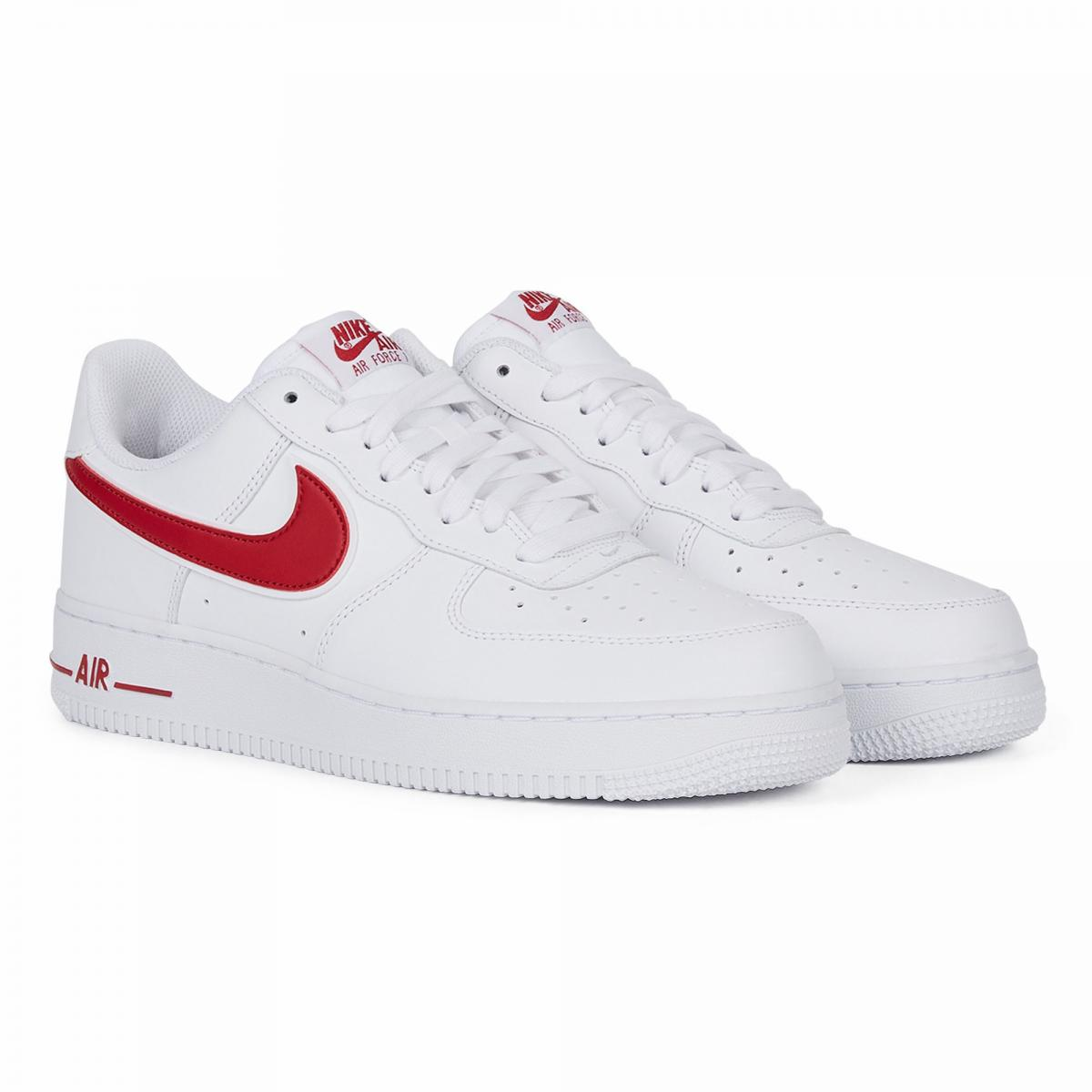 chaussure nike air force 1 rouge et blanche