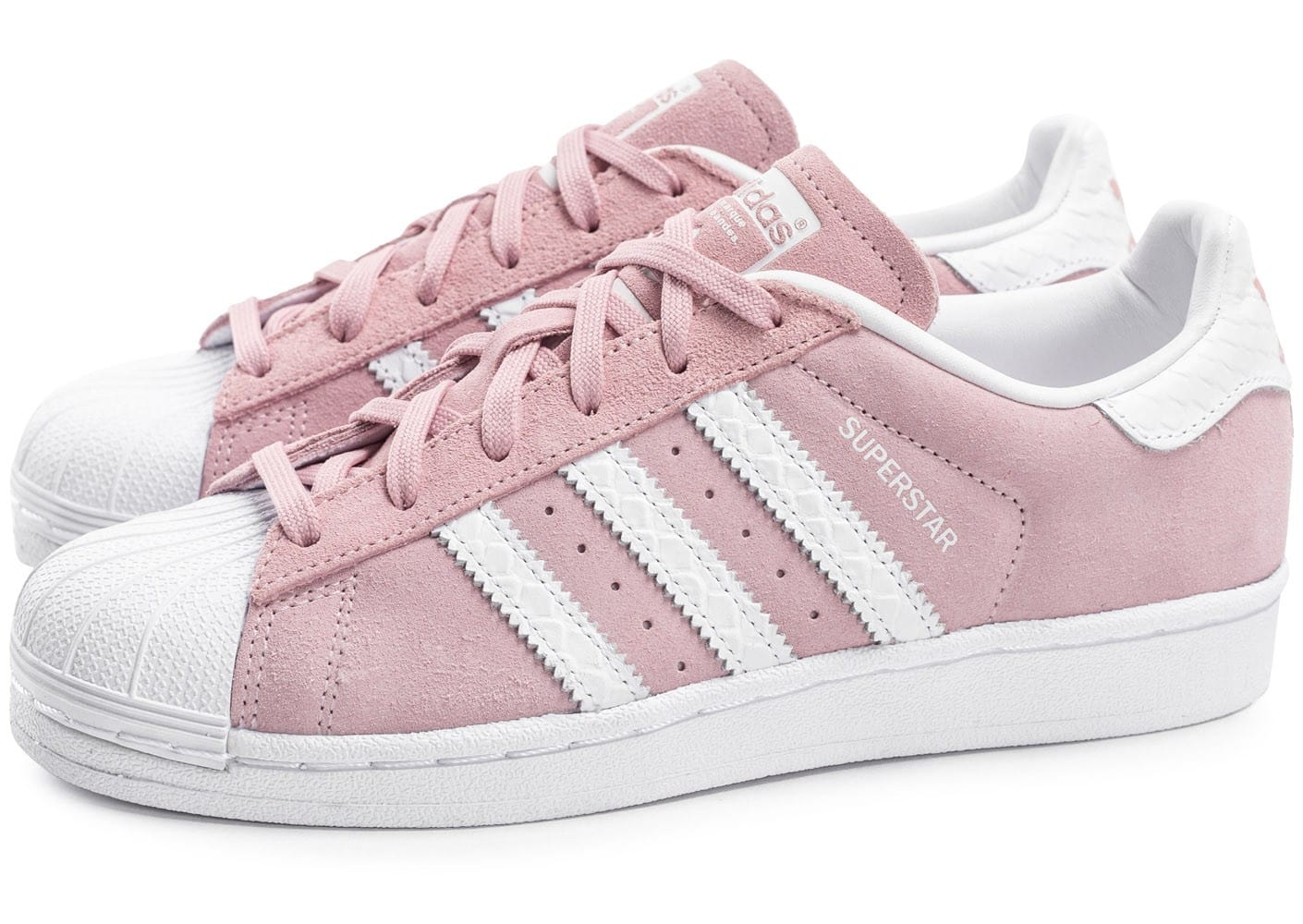 adidas superstar blanc et rose