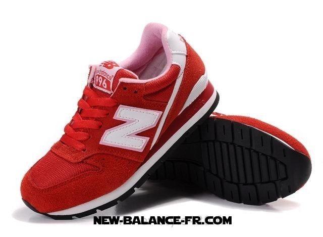 basket new balance femme rouge