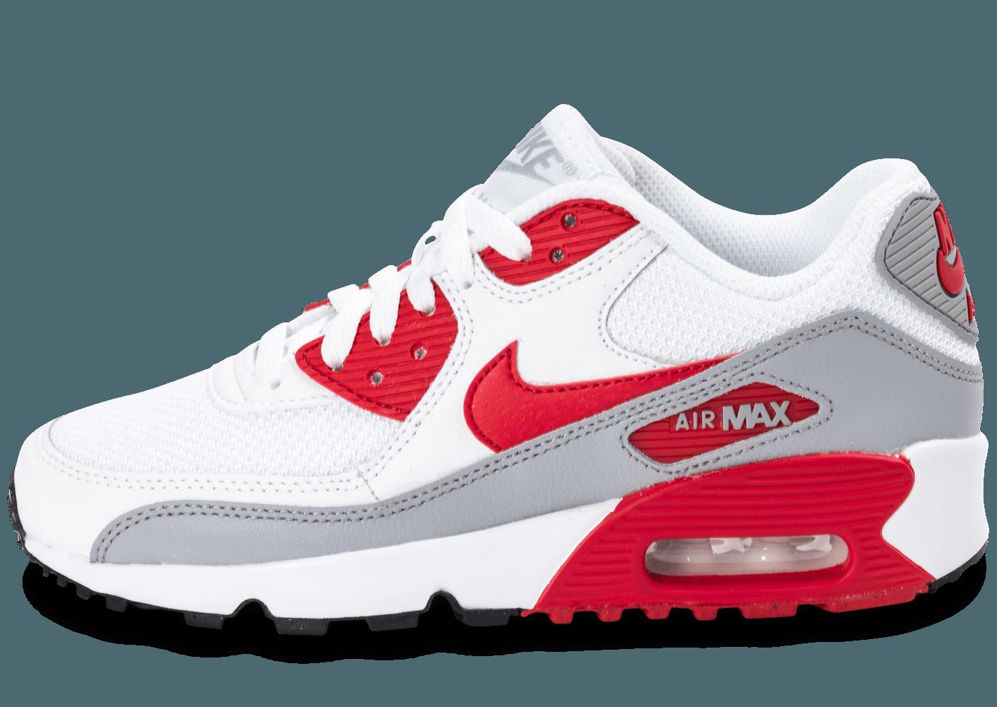 air max 90 blanche et rouge