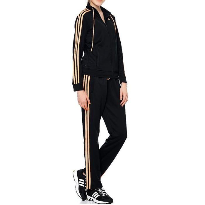 jogging adidas femme noir et or